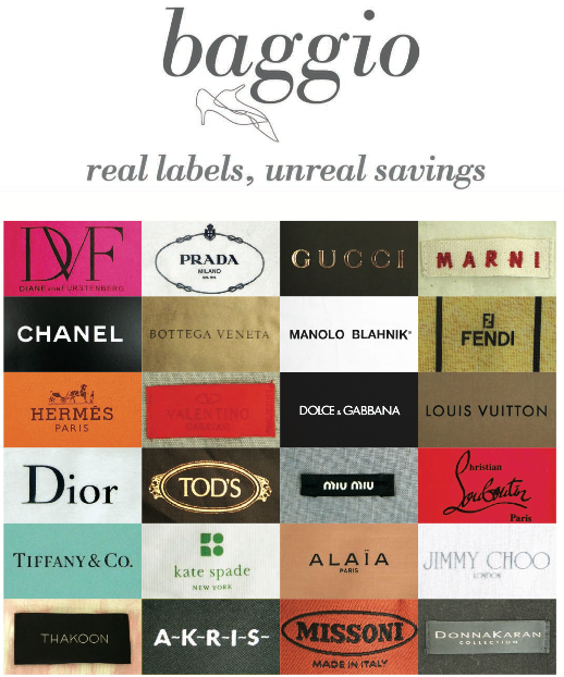 REAL LABELS, UNREAL SAVINGS @ BAGGIO