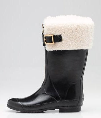 Burberry | Shearling Lined - Rubber All Weather  Boot Sz 5