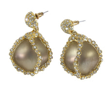 Load image into Gallery viewer, Alexis Bittar | Lucite and  Pave Crystals Tear Drop Earrings