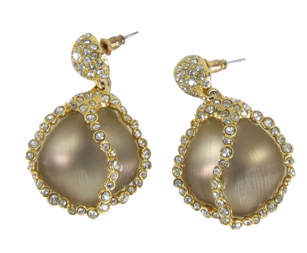 Alexis Bittar | Lucite and  Pave Crystals Tear Drop Earrings