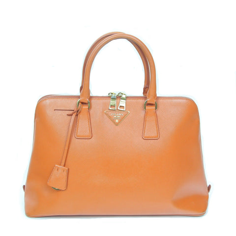 Prada | Orange Leather Satchel