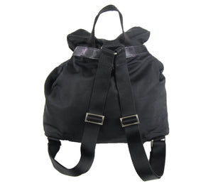 Prada | Black Nylon Logo Backpack