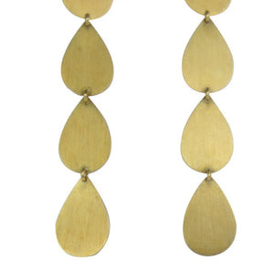 Irene Neuwirth | 18K Brushed Gold Drop earrings