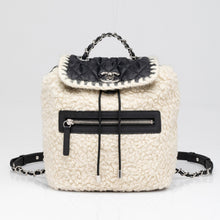Load image into Gallery viewer, Chanel | Coco Niege Ecru Wool Black Nylon Quilted Backpack
