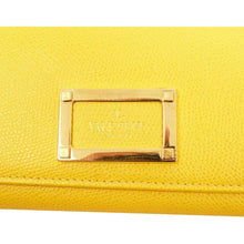 Load image into Gallery viewer, Valentino Yellow Checkbook Wallet
