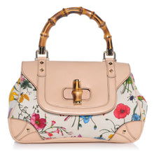 Load image into Gallery viewer, Gucci | Floral Flora Bamboo Satchel Handbag