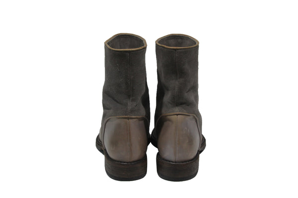 Leather and Suede Short Boots | Size 8 1/2