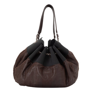 Chanel | Cabas Brown Leather Hobo Bag