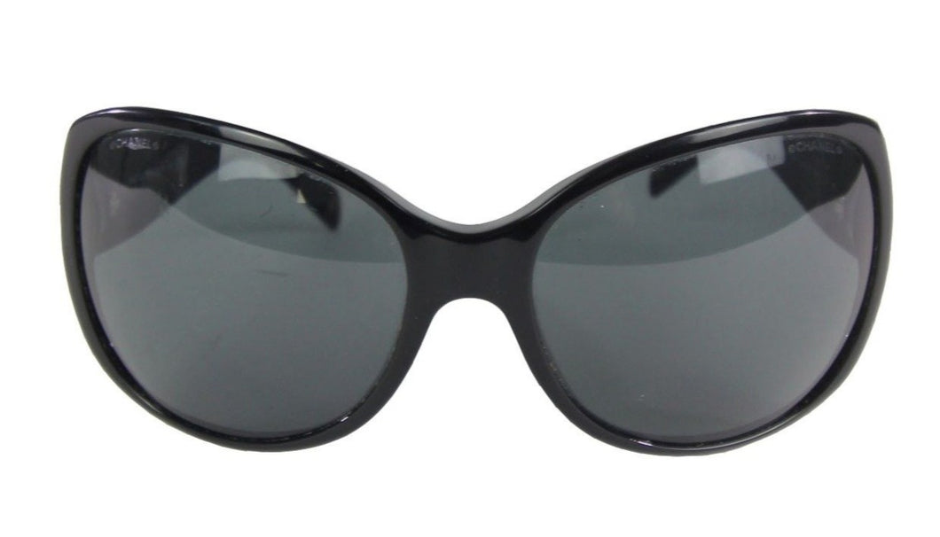 Chanel | Black Quilted CC Sunglasses 5150-B