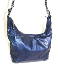 Load image into Gallery viewer, Gucci | Metallic Calfskin Medium Galaxy Hobo Blue