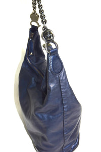 Gucci | Metallic Calfskin Medium Galaxy Hobo Blue