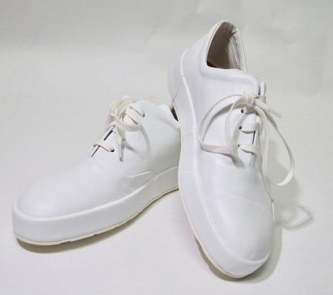 White Leather Sneakers | Size 10.5 US / 41 EU