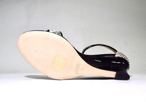 Aquatalia | Queena Snakeskin and Pattent Leather Wedges sz7.5