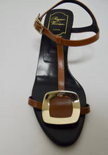 Load image into Gallery viewer, Roger Vivier | Strappy Leather Buckle Sandal Brown Sz 9.5/39.5