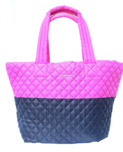 Load image into Gallery viewer, MZ Wallace | Medium Metro Pink & Navy color block Tote
