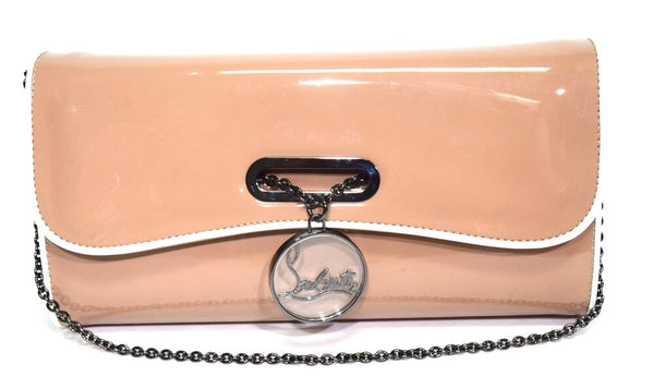 Christian Louboutin | Riveria on Chain Nude Beige Patent Clutch