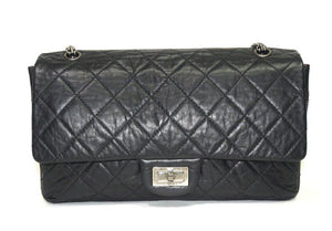 CHANEL | Aged Calfskin Quilted 2.55 Reissue 227 Flap Black