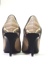 Load image into Gallery viewer, Giuseppe Zanotti | Tan & Black Lace Pumps Sz 5.5 / 35.5