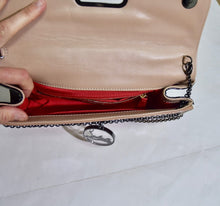 Load image into Gallery viewer, Christian Louboutin | Riveria on Chain Nude Beige Patent Clutch