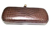 Load image into Gallery viewer, Bottega Veneta | Matte Brown Crocodile Knot Clutch