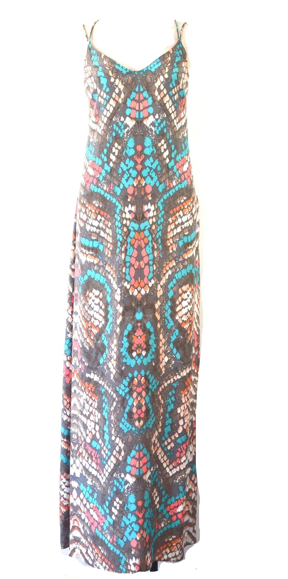 Spaghetti Straps Printed Maxi Dress | Size Small