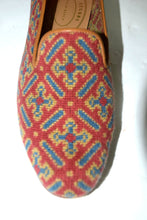 "Load image into Gallery viewer, Stubbs & Wootton | Cuenca Woven Slipper"" Red Sz. 9"