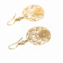 Load image into Gallery viewer, Roberto Coin |  Moresque Yellow Gold Bubble & Diamond Earrings