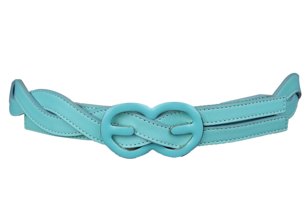 Escada Turquoise Woven Leather belt || Size 8