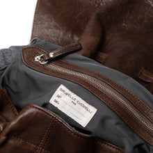 Load image into Gallery viewer, Brunello Cucinelli | Brown Leather Pouch w/ knot detail