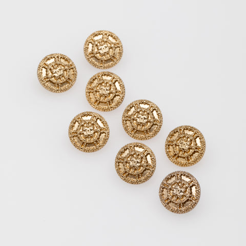 Vintage Gold  Buttons with Interlock CC's
