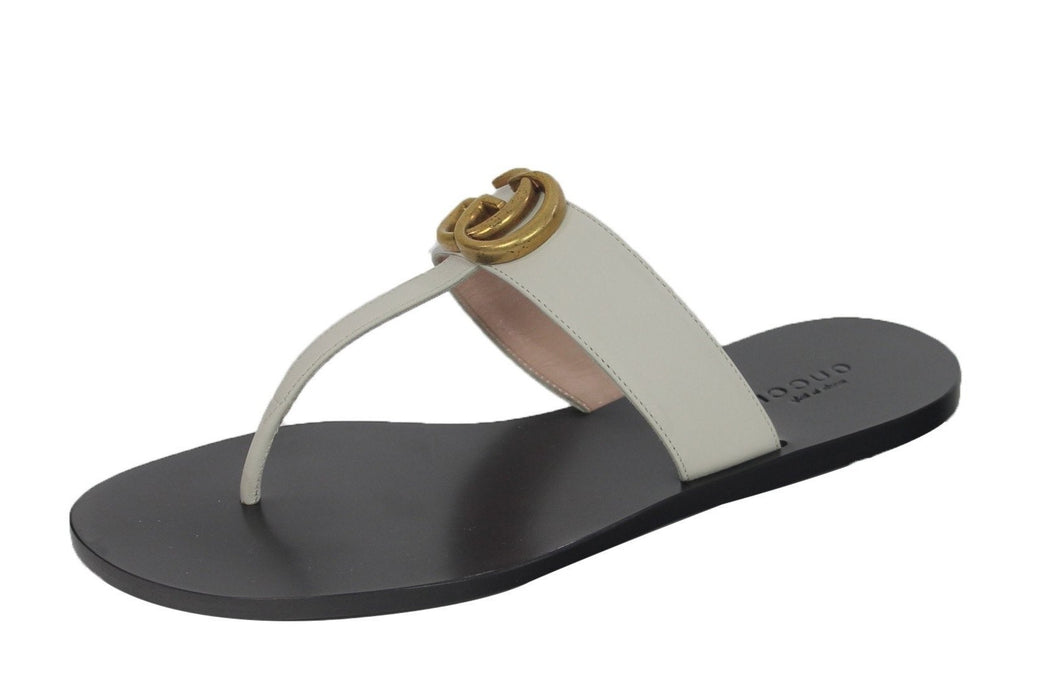 Gucci : Marmont Leather thong sandals w/GG logo Sz 6.5