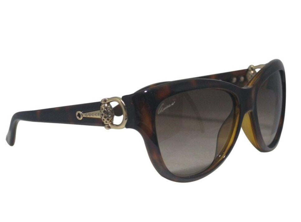 Gucci | Women's Brown Havana Gg 3711/S Cat Eye Sunglasses