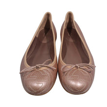 Load image into Gallery viewer, Gucci |Rose Gold logo Ballet Flat Sz 8.5/38.5