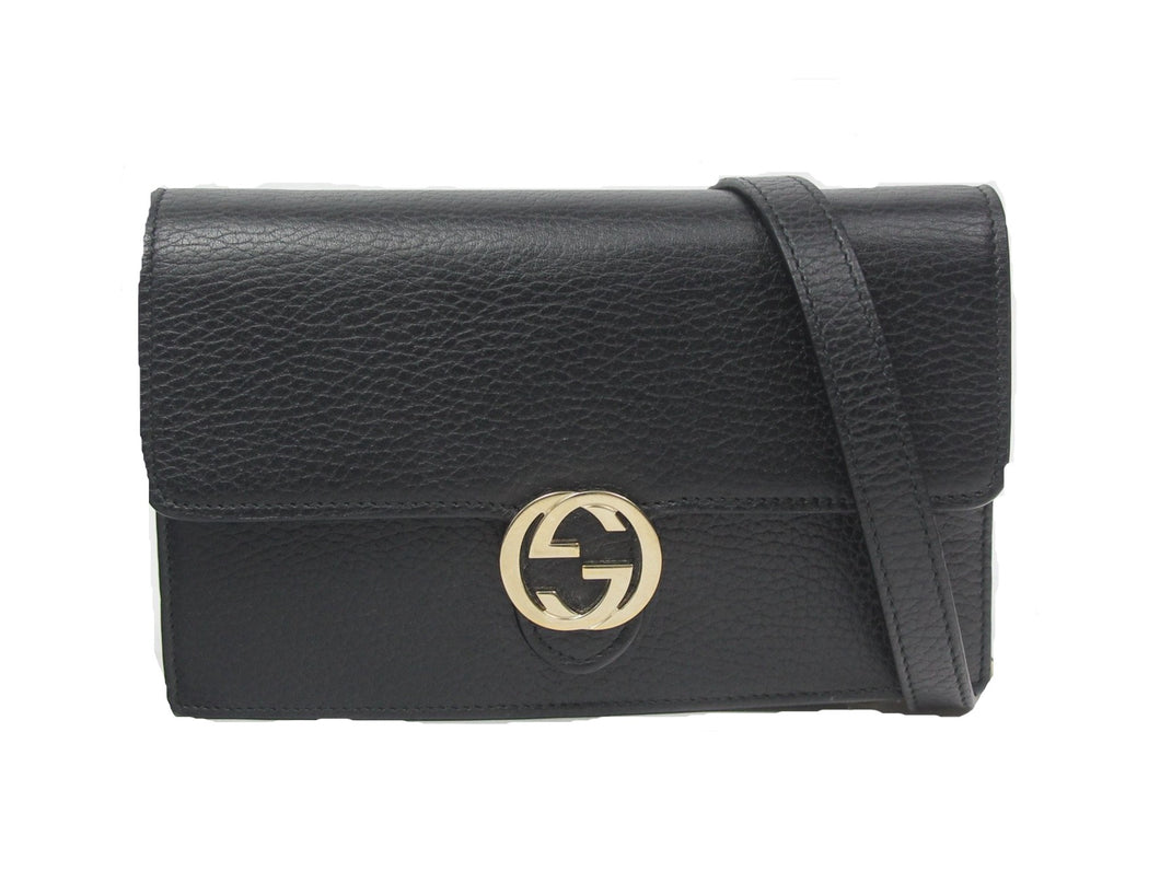 Gucci | Chain Wallet Marmont Calfskin Crossbody in Black