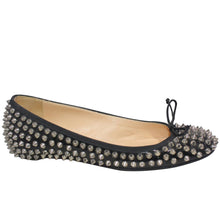Load image into Gallery viewer, Christian Loubutin | Leather Studded Ballet Flat Sz 7.5/37.5