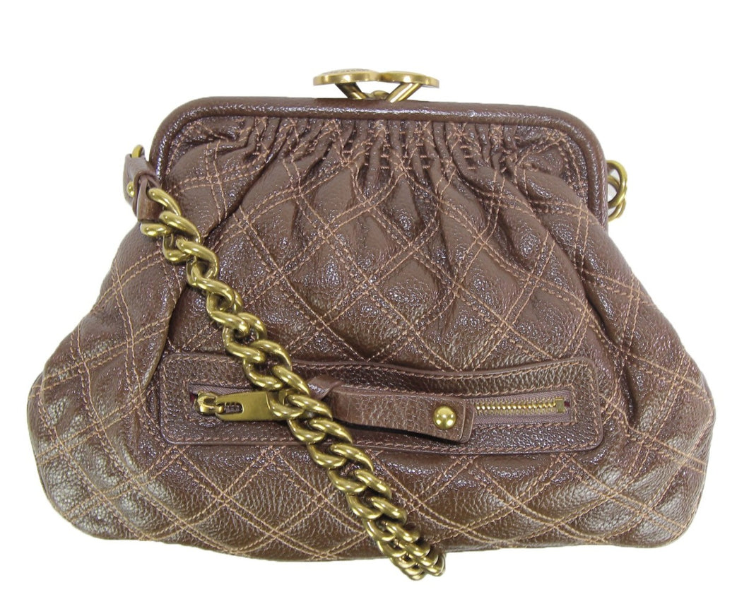 Marc Jacobs | Brown pebble quilted small doctor's bag