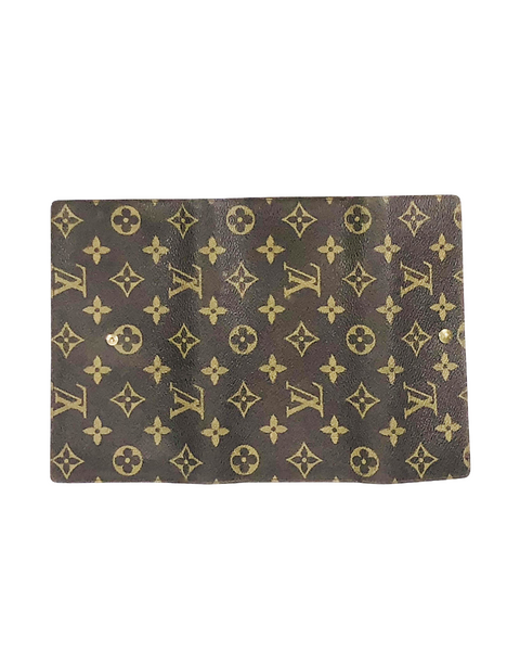 Monogrammed Coated Canvas Sarah Wallet