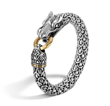 Load image into Gallery viewer, John Hardy | Naga 18K Yellow Gold & Sterling Silver Dragon Bracelet