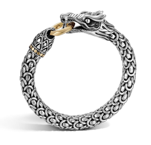 John Hardy | Naga 18K Yellow Gold & Sterling Silver Dragon Bracelet