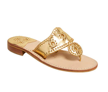 Load image into Gallery viewer, Jack Rogers |  Classic Jacks Flat Sandals in Gold Sz 7 1/2
