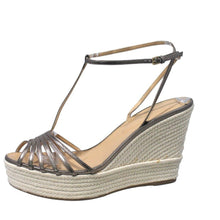 Load image into Gallery viewer, Sergio Rossi | Espadrille Wedge Sandal Sz 40