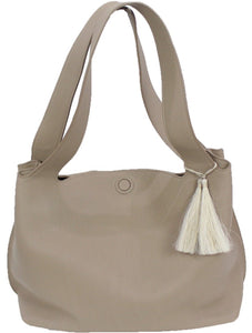"The Row | ""Duplex"" Pebbled Calfskin Hobo Bag"