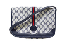 Load image into Gallery viewer, Gucci | Vintage Navy and Red Stripe Messenger Crossbody Bag