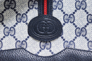 Gucci | Vintage Navy and Red Stripe Messenger Crossbody Bag