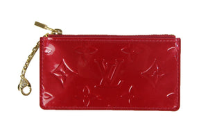Louis Vuitton | Red Vernis Monogram Key Pouch