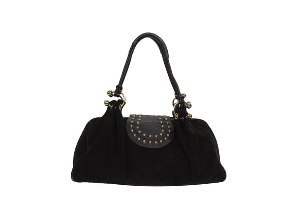 Studded Suede Satchel