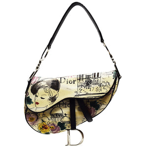 Christian Dior | Vintage Paris 50's Saddle Bag
