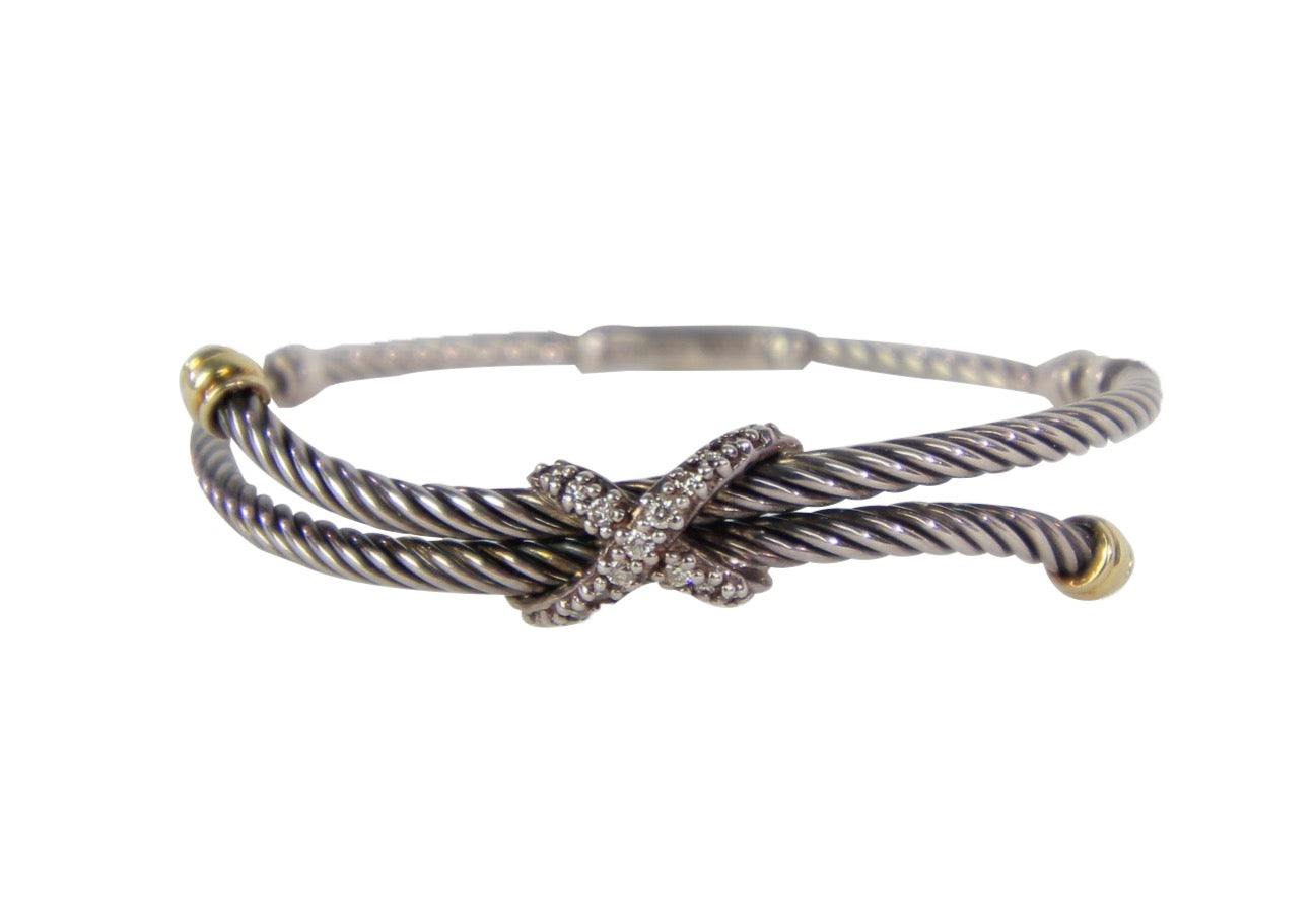 David Yurman | Diamond X Bracelet
