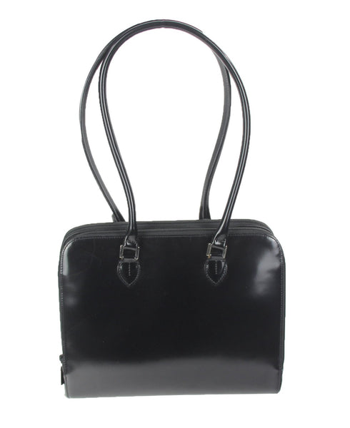 Furla | Black shiny leather shoulder bag