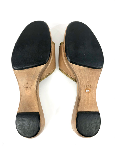Wooden Clog Sandals | Size 8.5
